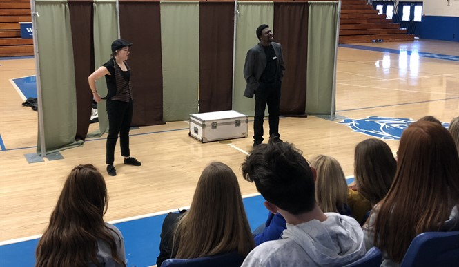 CCHS students participate in a Kentucky Shakespeare Outreach Program.