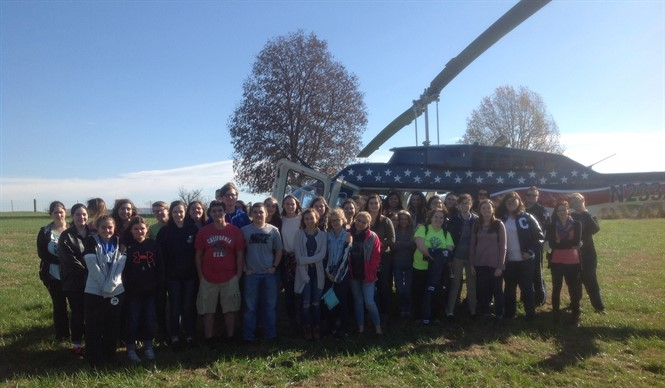 Air Evac Lifeteam visits CCATC and shares career opportunities with Health Science students.