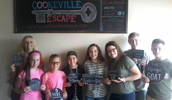 Gifted and talented students from CCMS and CCHS tried to break out at Cookeville Escape.