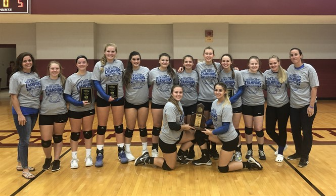 The CCHS VolleyDawgs are back-to-back 16th District Champs!