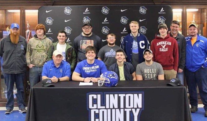 CCHS senior Jon-Allen Cross has signed with the Lindsey Wilson College Blue Raiders to play football after graduation.