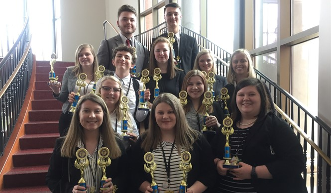 Several Clinton County FBLA members placed in the competitive events at the Regional Leadership Conference.