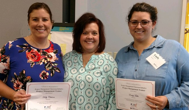 CCATC Instructor Holly Claborn, left, completed the Project Management Trainers Training.