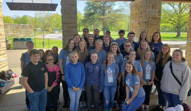 Members of the Clinton County High School Science Club took a tour of Mammoth Cave.
