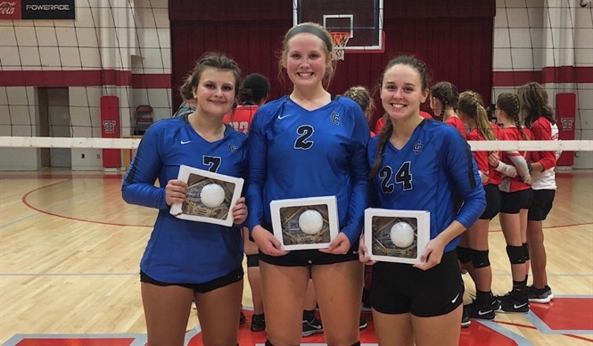 "Congratulations to CCHS Volley Dawgs Taylor Cross, Kayli Hadley, & Autumn McCutchen on being named to the All-Region Team at the All ""A""Classic!"