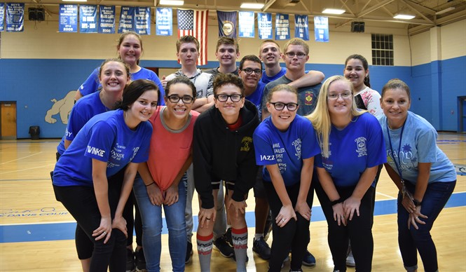 CCHS JROTC student leaders conducted a team-building event with gifted & talented students at CCMS.