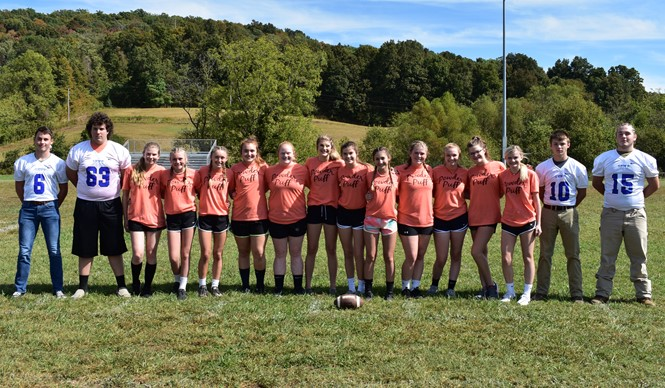 The first Spirit Club event of the year at CCHS was Powder Puff Football!