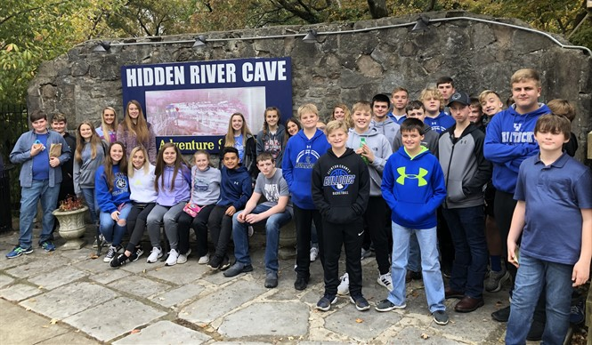 Gifted & Talented students at CCMS & CCHS enjoyed a trip to the Hidden River Cave Zip Adventure Park and American Cave Museum.