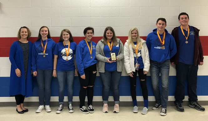 The CCHS Academic Team brought home some hardware from Section 5 JV Challenge!