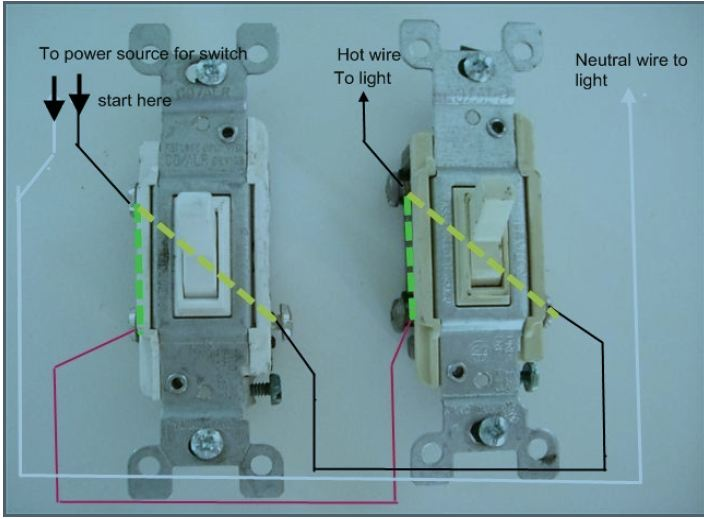 Single Pole Wiring Diagram Two Switch