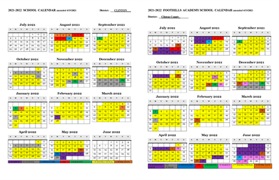 21-22 school calendars collage amended 4.19.21