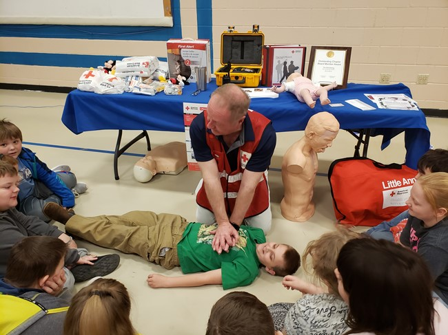 On February 14, 2020, Albany Elementary School students participated in the annual Health Fair.