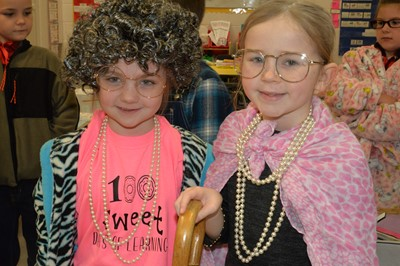 On Tuesday, January 28, 2020, students at ECC and AES celebrated the 100th day of school by dressing up as 100-year-olds.