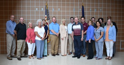 At the July 16th school board meeting, a delegation from Campbellsville University presented information about the mission of the university and the developing relationship between CU and the Clinton County Board of Education.