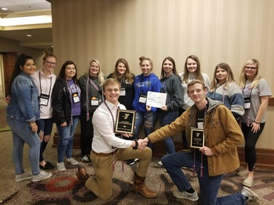 The Clinton County High School delegation represented France at the Kentucky United Nations Assembly at the Galt House in Louisville on March 8-10, 2020.