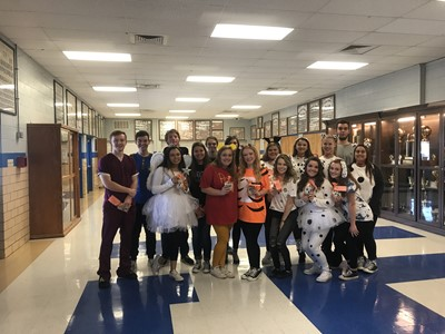 A College and Career Ready Halloween treat was awarded on October 31st at Clinton County High School to recognize students who have attained the level college and career readiness as reflected in their ACT scores, Compass scores, or vocational studies exams.