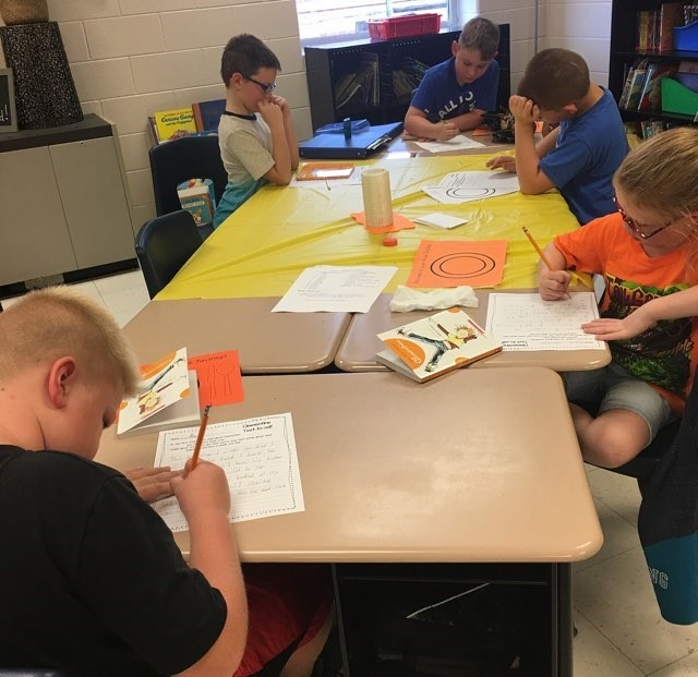 Students in Ms. Mindie Anderson's and Mrs. Samantha Blackaby's third grade classes enjoyed a Book Tasting to introduce their new chapter book Clementine!