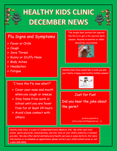 Check out the December Healthy Kids Clinic newsletter!