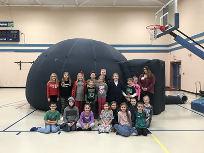 On Friday, February 21st, students in the Gifted & Talented Program at AES and CCMS participated in the Living Arts & Science Center Wonder on Wheels Outreach Program.