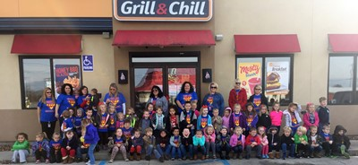 Preschool students at ECC visited Dairy Queen on Wednesday, November 15th, after completing a unit about restaurants.