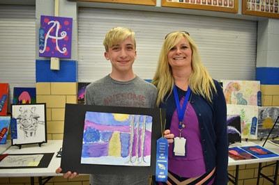 The 10th annual Gifted & Talented Art Show was held on April 9th at Clinton County High School.