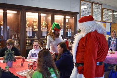 All seniors at Clinton County High School who have attained College & Career Readiness were honored at a Christmas Extravaganza on Wednesday, December 6th.