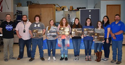 The senior members of the CCHS Archery Team were honored at the Archery Banquet at Albany Elementary School on Tuesday, April 17th.