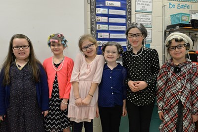 On Thursday, January 25th, students at ECC and AES celebrated the 100th day of school by dressing up as 100-year-olds.