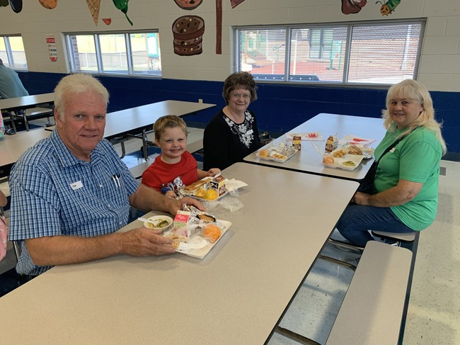 In honor of Grandparents Day, grandparents and special friends of preschool students were invited to eat lunch at ECC during the week of September 9th - 12th.