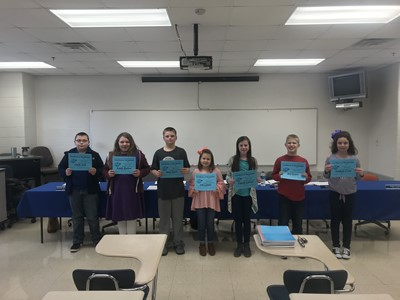 The members of the Clinton County Elementary Academic Team were recognized at the March 8th School Board Meeting.