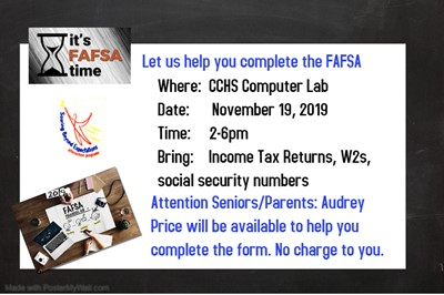 Need help completing the FAFSA? This workshop is for you!!!