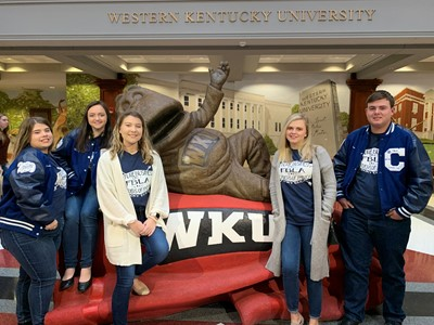 FBLA Officers Rachel Sawyers, Paige Hicks, Jaden Mullins, Molly Cecil, and Conlan Beck attended the Fall Leadership Conference at WKU.