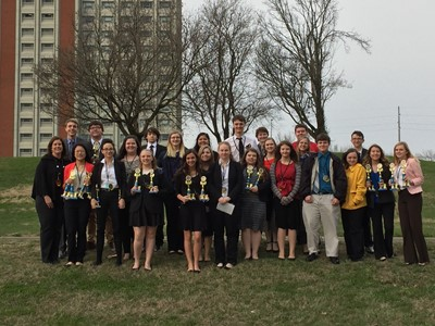 On Friday, March 9, 2018, 24 members of Clinton County Area Technology Center's Future Business Leaders of America chapter traveled to the Eastern Kentucky University's Performing Arts Center to compete in the Regional Leadership Conference.