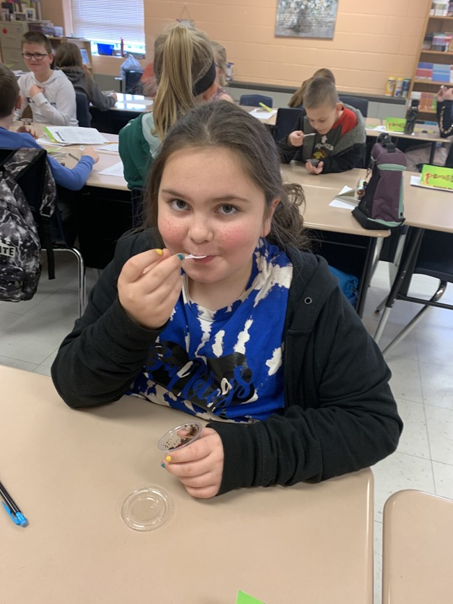 "Students in Mrs. Crystal Marcum's 4th grade class at AES recently completed their unit on ""How to Eat Fried Worms."""