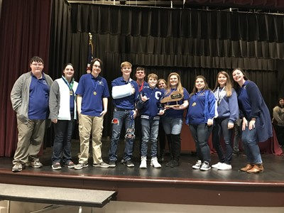 Congratulations to the High School Academic Team for winning the District 14 High School Governor's Cup Competition!