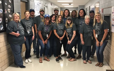 In honor of the Kentucky statewide kick off of the Relay for Life season, school employees all over the district wore their Hope Starts at Home shirts on September 20th.