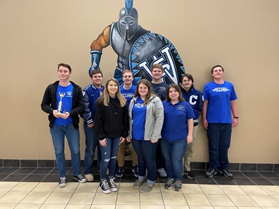 The CCHS Academic Team placed 5th overall out of 15 schools in the Regional Governor's Cup Competition on February 15th.