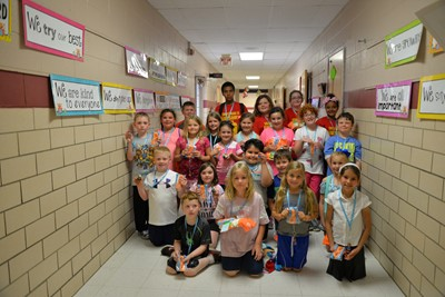 Albany Elementary School students raised a total of $1,081.36 for the American Heart Association during Jump Rope for Heart.