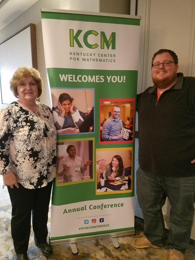 Mrs. Reda Thurman and  Mr. Jared Hunter spent time this week at the Kentucky Center for Mathematics Conference in Lexington, Kentucky.