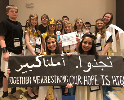The Clinton County Middle School delegation represented Egypt at the Kentucky United Nations Assembly (KUNA) on March 3-5, 2019.