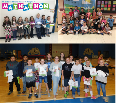 The students at ECC, AES, and CCMS raised over $3,500.00 during the annual St. Jude Math-A-Thon fundraiser.