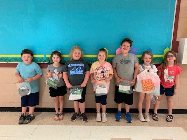 Students at the Early Childhood Center and Albany Elementary School put their math skills to work and earned $2,889.34 for St. Jude Children's Research Hospital.