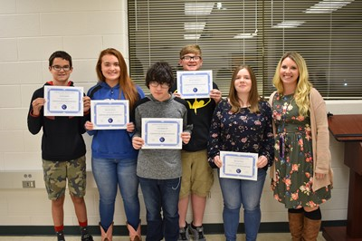 The Clinton County Middle School media class was recognized at the November 12th school board meeting for their work on the weekly CCMS News broadcast.