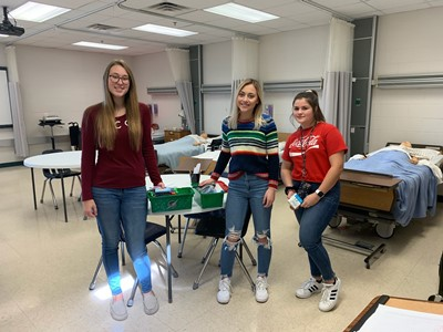The HOSA students at the SOKY ECCA along with their Instructors / Advisors Billie Frye, RN and Ashley King, RN collected items for Operation Christmas Child.