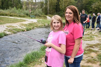 The 11th Annual Reaching for Rainbows Fishing Derby for students in Clinton and Russell Counties was held on Friday, September 28, 2018 at Wolf Creek National Fish Hatchery.