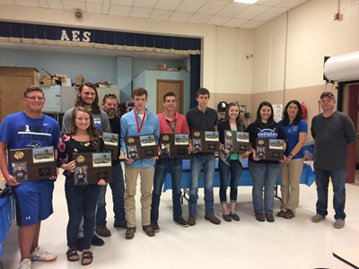 The senior members of the CCHS Archery Team were honored at the Archery Banquet at Albany Elementary School on Tuesday, April 25th.