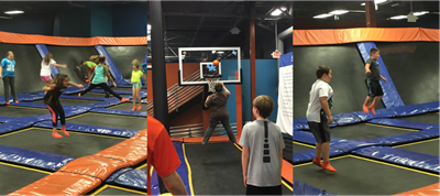 Winners of the Gifted & Talented Battle of the Books and Healthy Hometown Fitness Buddies were rewarded with a trip to Sky Zone in Lexington on April 5th.