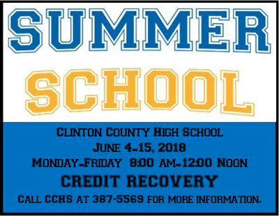 Credit recovery will be available at CCHS during Summer School.