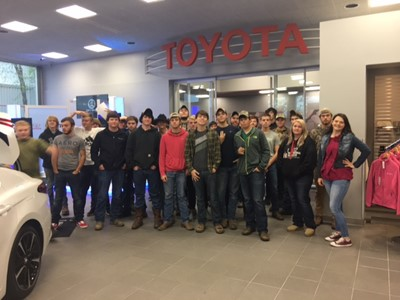 On November 3, 2017, 35 students from Clinton County ATC Automotive program had the opportunity to attend a tour of the Georgetown, KY Toyota Manufacturing Facility.