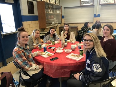 Students at CCHS who are Transition Ready were rewarded with a pizza party & cookie decorating on Friday, December 13th.